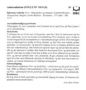 Flow-bog-lektør-udtalelse-Lisbeth-Ejlertsen
